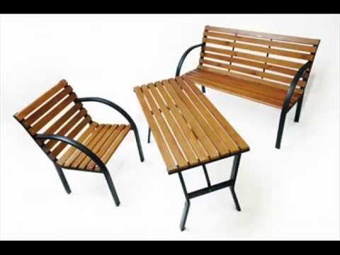 gartenm bel im original bauhaus stil parkbank gartenstuhl gartentisch youtube. Black Bedroom Furniture Sets. Home Design Ideas