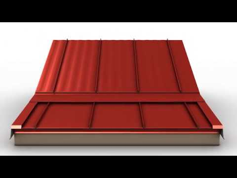 How To Install Standing Seam Metal Roofing Slope Transition Trim Youtube