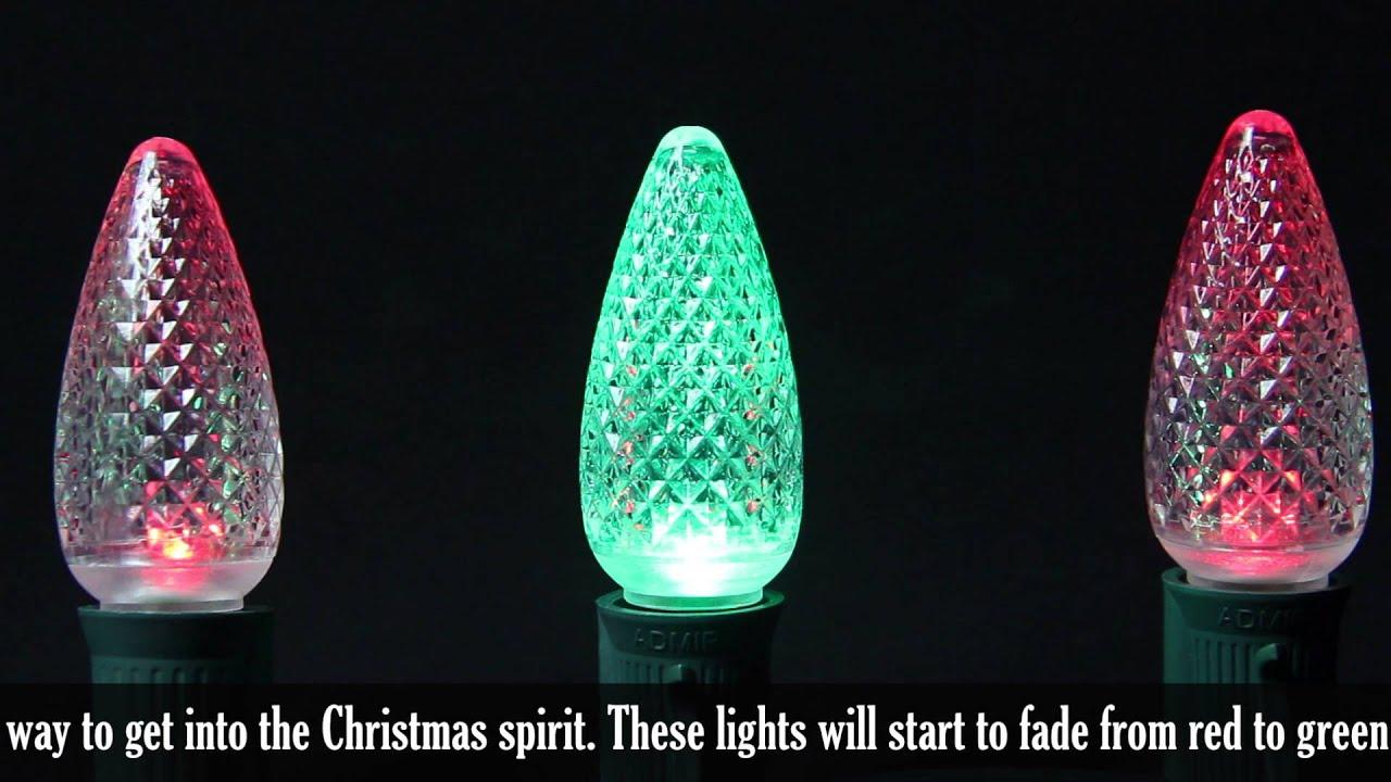 C9 Led Red To Green Color Change Christmas Bulbs