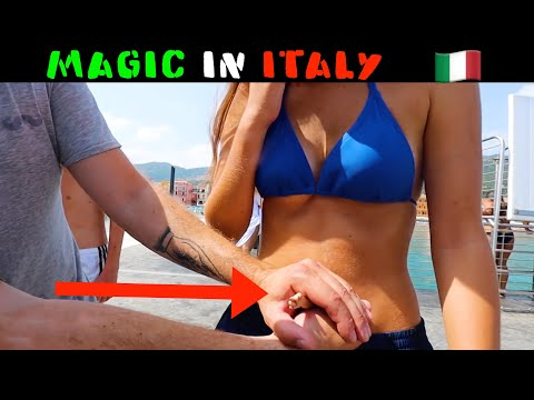 ITALY  REACTS TO MAGIC-Julien Magic