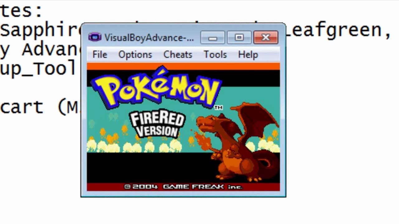 Pokemon fire red save game download vba