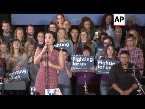 Demi Lovato Campaigns For Hillary Clinton Mp3