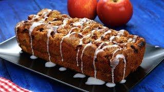 Яблочный пирог-хлеб с корицей и сочными кусочками