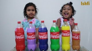 Real Toddler Ishfi's Learning video with Colourful Coca Cola