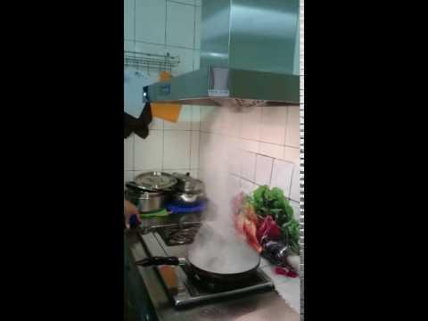 多德仕直流變頻排油煙機-油煙吸力測試-3 - YouTube