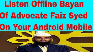 Advocate Faiz Syed - Latest Offline Bayan Of IRC TV online