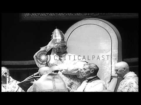 Coronation of Pope Paul VI in Vatican City at St. Peter