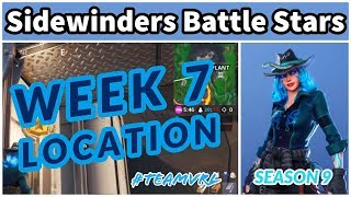 Fortnite - Sidewinders Battle Stars - Season 9 Week 7 Secret Battle Star Location