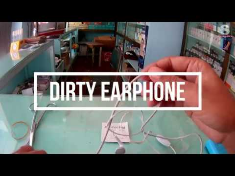 How to Clean Dirty Earphones Wire at Home in Less then One Minute.