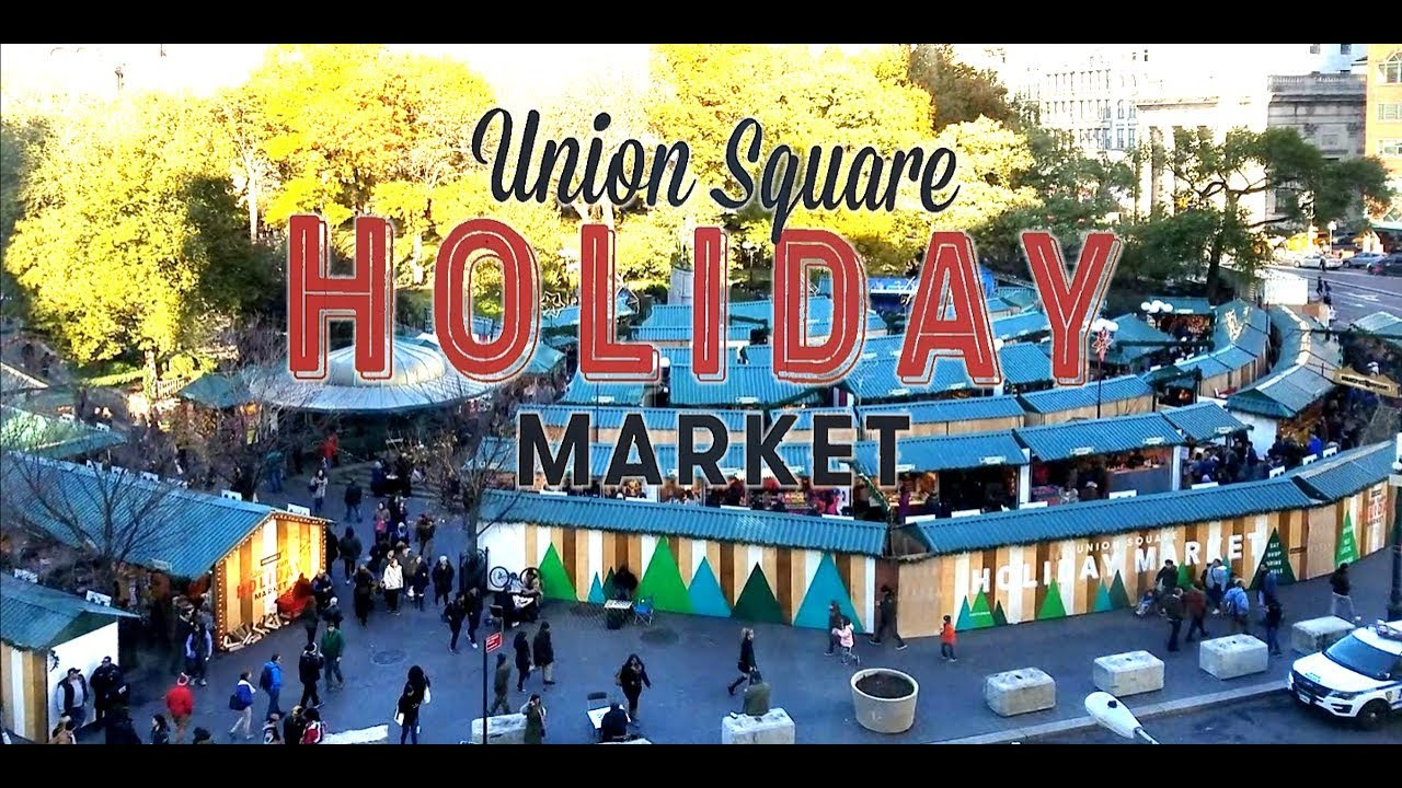 Christmas Market New York City.Union Square Holiday Market New York City