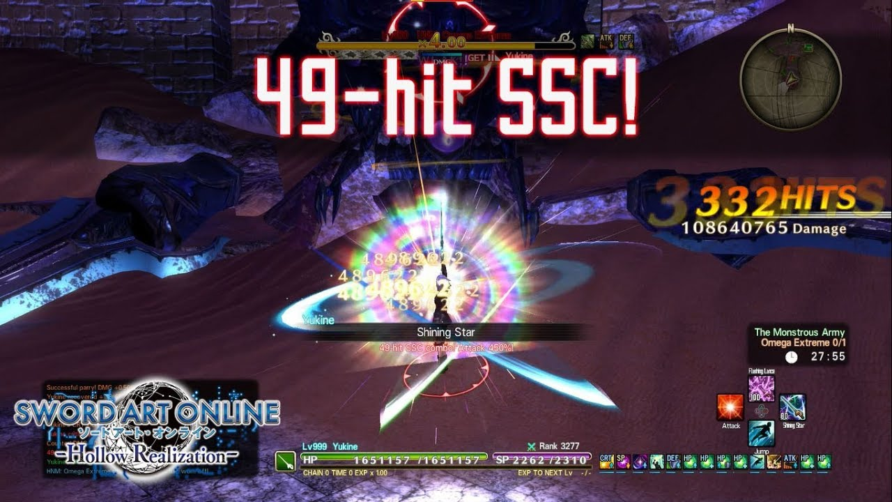 49-hit SSC Build Test - Sword Art Online: Hollow Realization