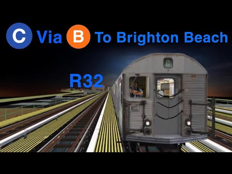 OpenBVE HD 60 FPS: R32 C Train Via The B Line From 168 Street To Brighton Beach
