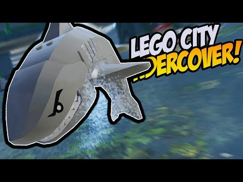 Lego Police Officer Survives Multiple SHARK ATTACKS! - Lego City Undercover 100%
