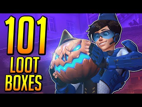 Unboxing 101 Halloween Lootboxes! | 2017 Edition, RNG is on my side this time