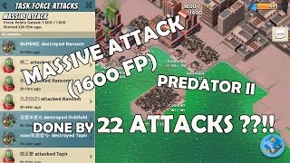 BOOM BEACH - Predator II (Massive Attack 1600FP) Taken Down by 22 Attacks