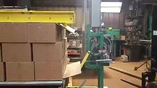 Newell Automatic Side Seal Strapping Machine with Slip Sheet Folding