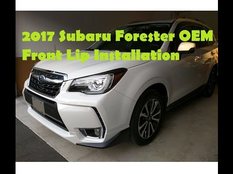 2017 Subaru Forester Oem Front Lip Installation Youtube