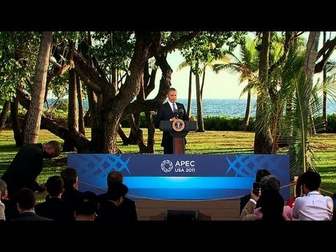 President Obama Holds a Press Conference at the APEC Summit