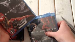 Spider-Man Trilogy Blu-Ray unboxing 1080p