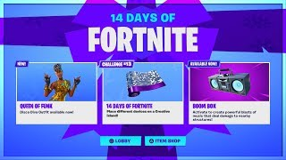 NEW FREE ITEM 14 DAYS OF FORTNITE NEW CHALLENGES! DAY 13 REWARD! LIVE COUNTDOWN!