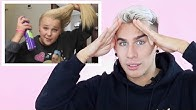 HAIRDRESSER REACTS TO JOJO SIWA RUINING HER HAIR FOR 11 MINUTES STRAIGHT