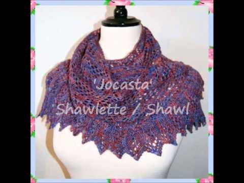 Jocasta Heirloom 4ply Lace Yarn Shawlette Shawl Wrap Warmer Knitting