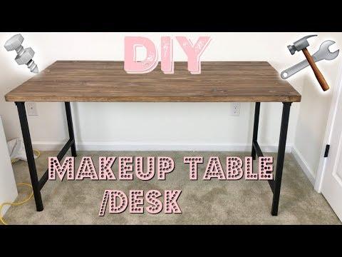 DIY MAKEUP VANITY / DESK