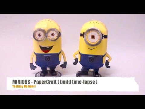 Papercraft How to make Minions PaperCraft - build time-lapse.