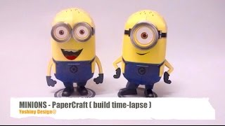 How to make Minions PaperCraft - build time-lapse.