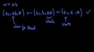 Theoretische informatik - Erstellen eines Pushdown-Automat | Akzeptiert (a^n)(b^n) - Beispiel