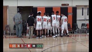 Stoughton High Boys Basketball vs North Attleboro (1-12-18)