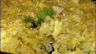 Кисело зеле с ориз на фурна