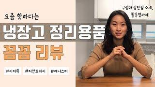 핫한 냉장고 정리용품 리뷰 | 이지쏙, 저안트레이, 캐…
