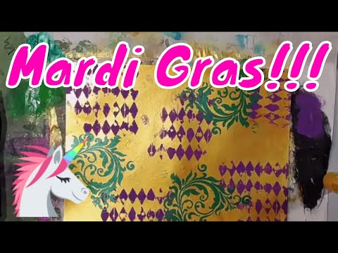 Friday Night Pajama Party! Lets Have Some Mardi Gras Fun! Challenge #11