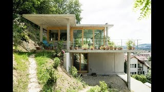 House On A Slope In Germany By Gian Salis Architect
