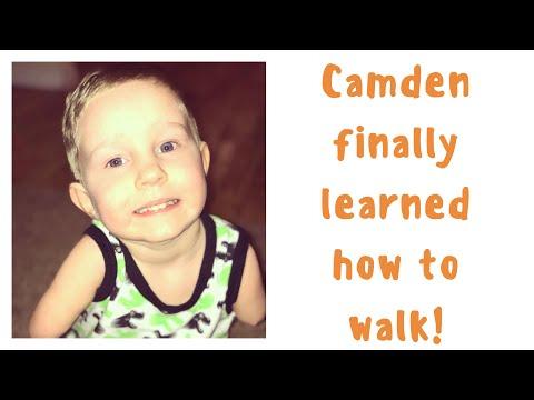Camden finally learned how to walk!