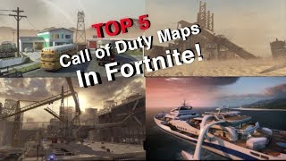 Top 5 Call of Duty Maps In Fortnite Creative! (w/ Codes)