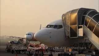 Garuda Indonesia economy class flight review GA203 Yogyakarta to Jakarta-Soekarno-Hatta with PK-GEK