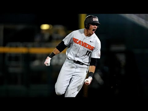 Highlights: Trevor Larnach's ninth-inning blast lifts Oregon State past Arkansas, forces College...