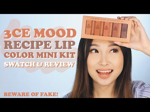 3ce-mood-recipe-lip-color-mini-kit-review-[eng-sub]
