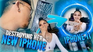 Breaking Girlfriends iPhone & Surprising Her With a BRAND NEW iPhone 11