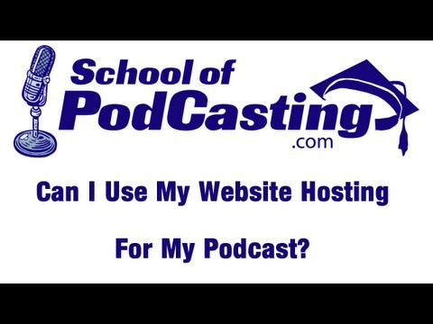Can I Use My Web Host For My Audio Podcast?