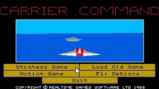 Carrier Commands gameplay (PC Game, 1988)