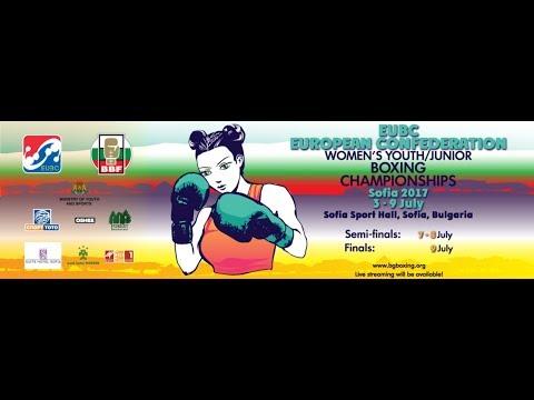 EUBC European Women's Youth & Junior Boxing Championships SOFIA 2017 08/07/2017 14:00 & 18:00 RING A