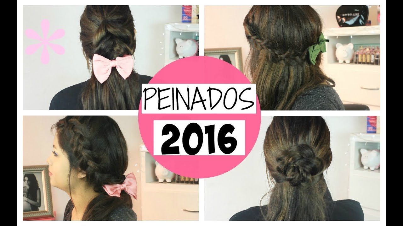 Peinados Faciles Y Bonitos 2016 Paso A Paso Youtube