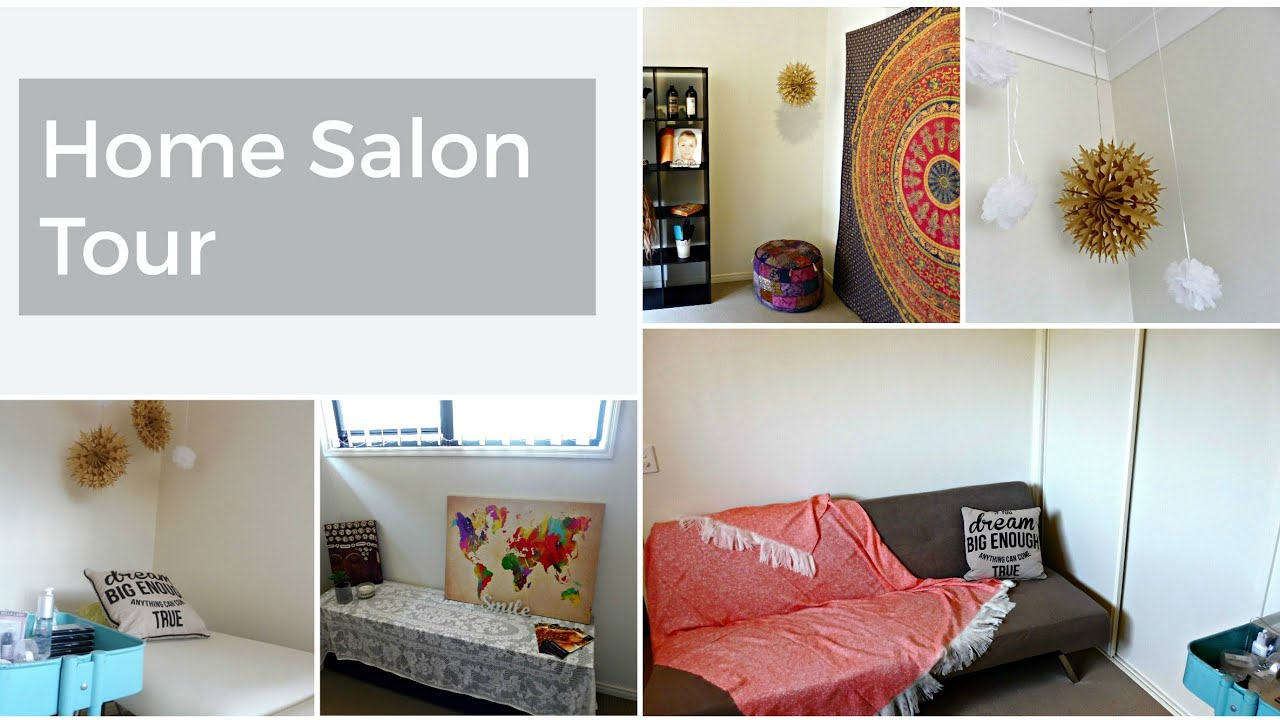 eco tan eyelash extensions home salon tour a girls world hair beauty - Home Salon Furniture