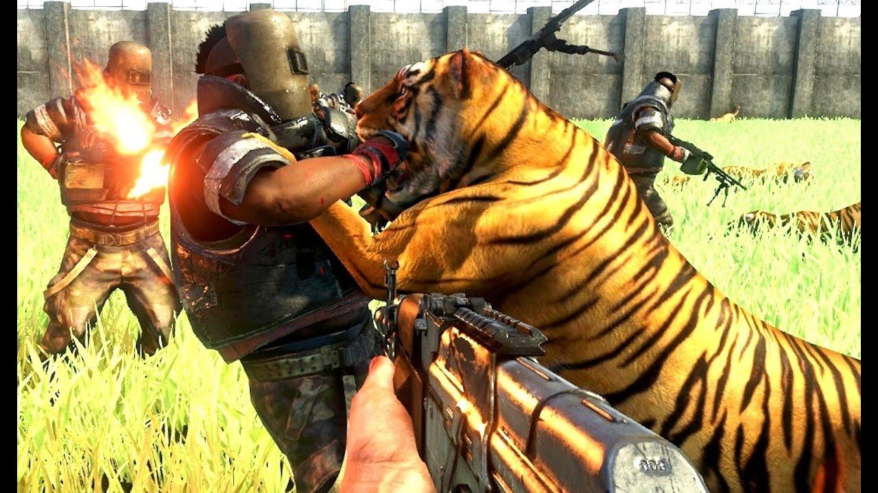 Far Cry 3 Massive Scale Battles 100 Tigers Vs 100 Pirates Youtube