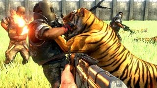 Far Cry 3 Massive Scale Battles 100 Tigers Vs 100 Pirates