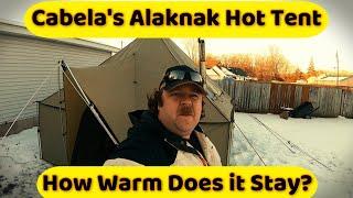 Cabela's Alaknak and Kni-Co Alaṡkan Jr. hot tent