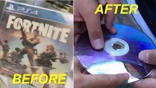 DESTROYING kid's BRAND NEW Fortnite disc!!!